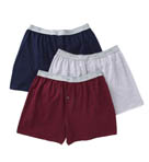 Mens 100% Core Cotton Assort Knit Boxers- 3 Pack