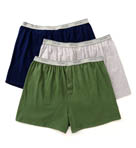 Fruit Of The Loom 3 Pack Exposed Waistband Big Man Knit Boxers 3P722X