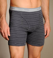 4 Pack Stripe/Solid Big Man Boxer Brief