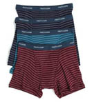 Assorted Stripes Low Rise Boxer Briefs - 4 Pack