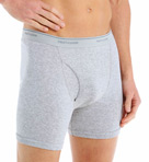 Mens Core 100% Cotton Basic Boxer Briefs - 4 Pack