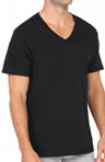 Black and Grey V-Neck T-Shirts - 4 Pack