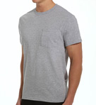 Big Man Core 100% Cotton Grey Pocket Tee - 4 Pack