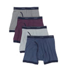 Fruit Of The Loom Ringer Boxer Brief 4-Pack 4REL01C