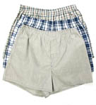 Fruit Of The Loom Low Rise Tartan Plaid Woven Boxers - 3 Pack 590L