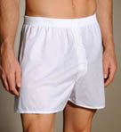 3 Pack White Big Man Woven Boxer