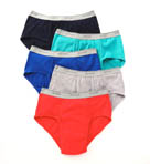 Big Man Assort Mid Rise 100% Cotton Brief- 5  Pack