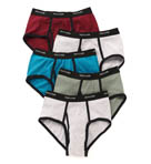 100% Cotton Assort Ringer Fashion Briefs- 5 Pack