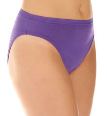 Fruit Of The Loom Ladies Assorted Cotton HiCut Brief - 6 Pack 6DHICAS