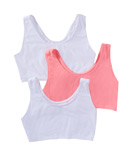 Fruit Of The Loom Tank Style Sports Bra 3-Pack 9012