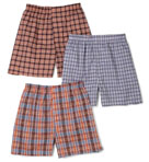 Big Man Tartan/Plaids Woven Boxers - 3 Pack