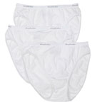 Ladies' Cotton Hi Cut White Panties 3 Pack
