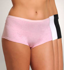 Ladies Fit for Me Cotton BoyShort Panty - 3 Pack