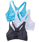 Fruit Of The Loom 3 Pack Total Comfort Racerback Bra FT170