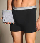 2 Pack Black/Gray Trunks