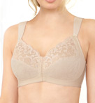 Soft Shoulders Front Close T-Back Support Bra Image