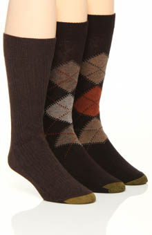 Gold Toe Argyle Socks - 3 Pack