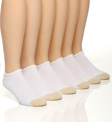 Gold Toe Cotton No Show Socks - 6 Pack