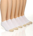 Gold Toe 6 Pair Cotton No Show Socks 656F