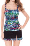 Gottex Profile Aztec Printed Tankini D/E Cup Swim Top 05-ID18