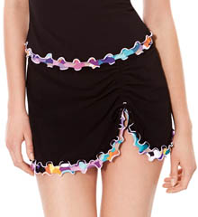 Profile Pixel Tri Color Skirted Swim Bottom