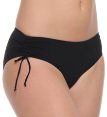 Profile Solid Side Ruched Swim Bottom