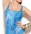 Gottex Atlantis Square Neck Tank One Piece Swimsuit 11AT138