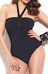 Starlight Bandeau with Beads One Piece Swimsuit