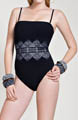 Gottex Chantilly Lace Bandeau One Piece Swimsuit 13CH070