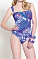 Gottex Clemence Draped Bandeau One Piece Swimsuit 13CL079