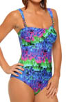 Gottex Esthera Bandeau Draped Bra One Piece Swimsuit 13ES079