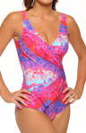 Esthera Surplice One Piece Swimsuit