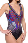Gottex Folklore V-neck Tank One Piece Swimsuit 13F0151