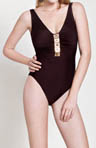 Gottex Ishtar V-Neck With Jewelry One Piece Swimsuit 13IS151