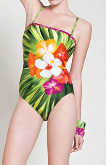 Maldives Bandeau One Piece Swimsuit