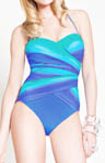 Gottex Rainbow Goddess Bandeau One Piece Swimsuit 13RG072