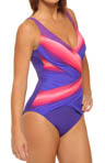 Rainbow Goddess Surplice One Piece Swimsuit
