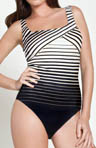 Gottex Riley Square Neck Tank One Piece Swimsuit 13RI172