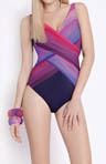 Gottex Contour Chrystalis Surplice One Piece Swimsuit 14CH158