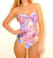 Fauna Bandeau One Piece Swimsuit Image