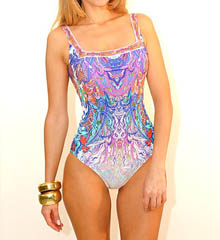 Gottex KOH Phangan Square Neck Tank One Piece Swimsuit 14KH172