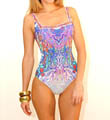 KOH Phangan Square Neck Tank One Piece Swimsuit Image