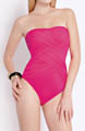 Contour Lattice Bandeau One Piece Swimsuit Image