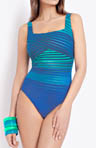 Gottex Essentials Ocean Riley Square Neck Swimsuit 14RI172