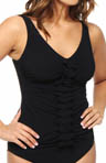 Gottex Profile Rapture V-Neck Underwire Tankini Swim Top 53-1D47
