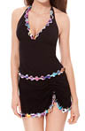 Gottex Profile Pixel Tri Color Haltini Swim Top 7-IB88A