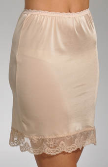 "Grenier 18"" Half Slip With Lace Trim 820"