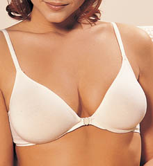 Cotton Front-Closure Molded Underwire Bra