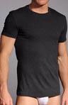 Skin Nero Perla Crew Neck T-Shirt