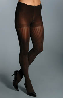 Silk Reflections Ribbed Control Top Tights